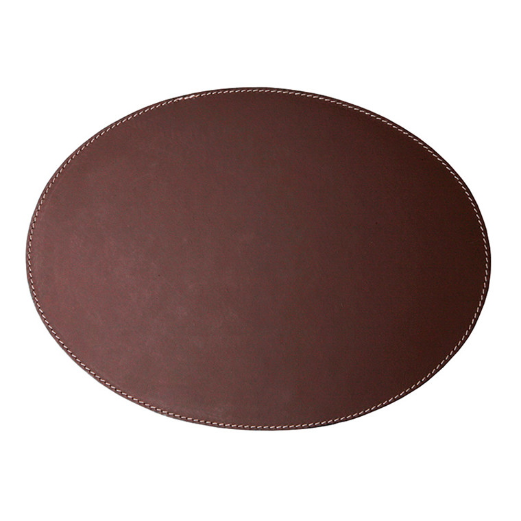 Ørskov & Co. Leather Placemat Oval Brown