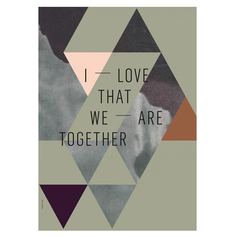 I Love My Type We Are Together Olive Plakat