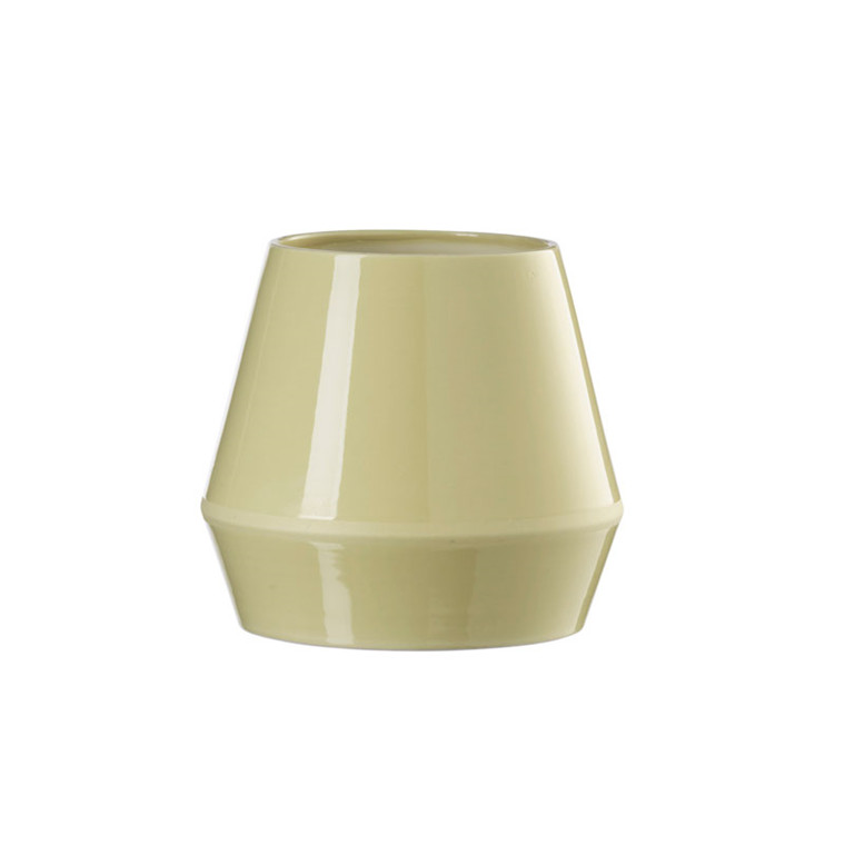 By Lassen Rimm Vase Short Dusty Yellow