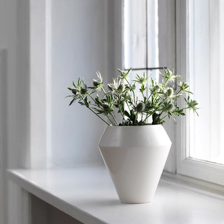 By Lassen Rimm Vase Tall Hvid