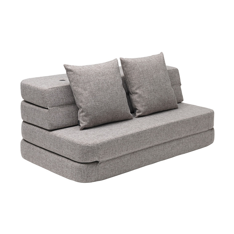 By KlipKlap 3 Fold Sofa XL Soft Multi Grey W. Grey