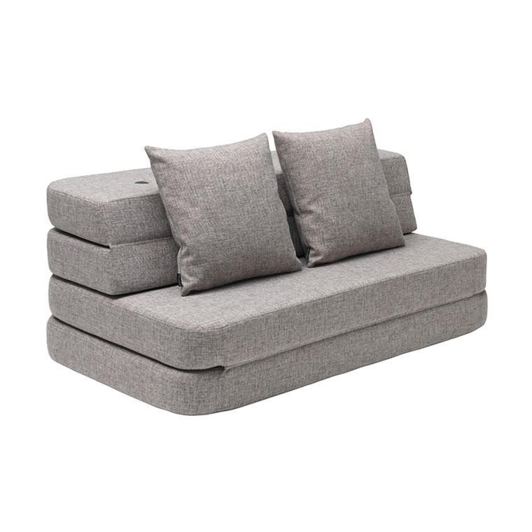 By KlipKlap 3 Fold Sofa Multi Grey W. Grey