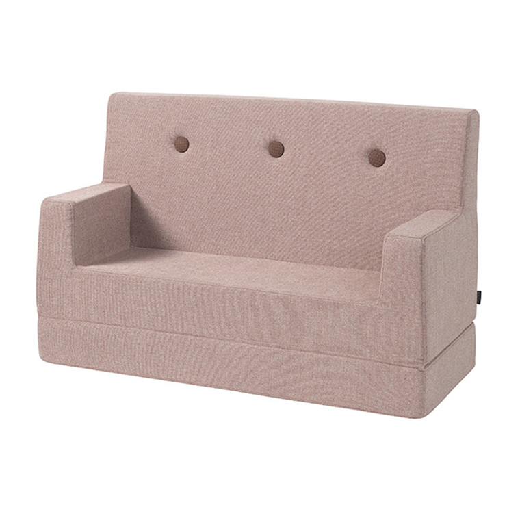 By KlipKlap Kids Sofa Soft Rose W. Rose