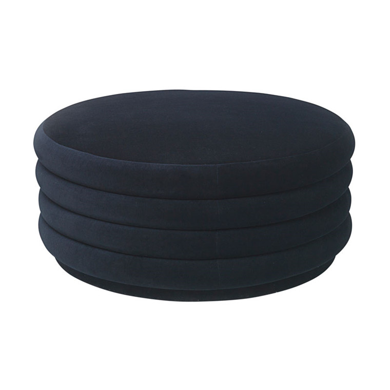 Ferm Living Pouf Round Dark Blue Large