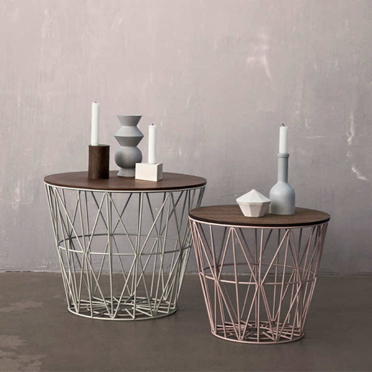 Ferm Living Wire Basket Top Røget Eg