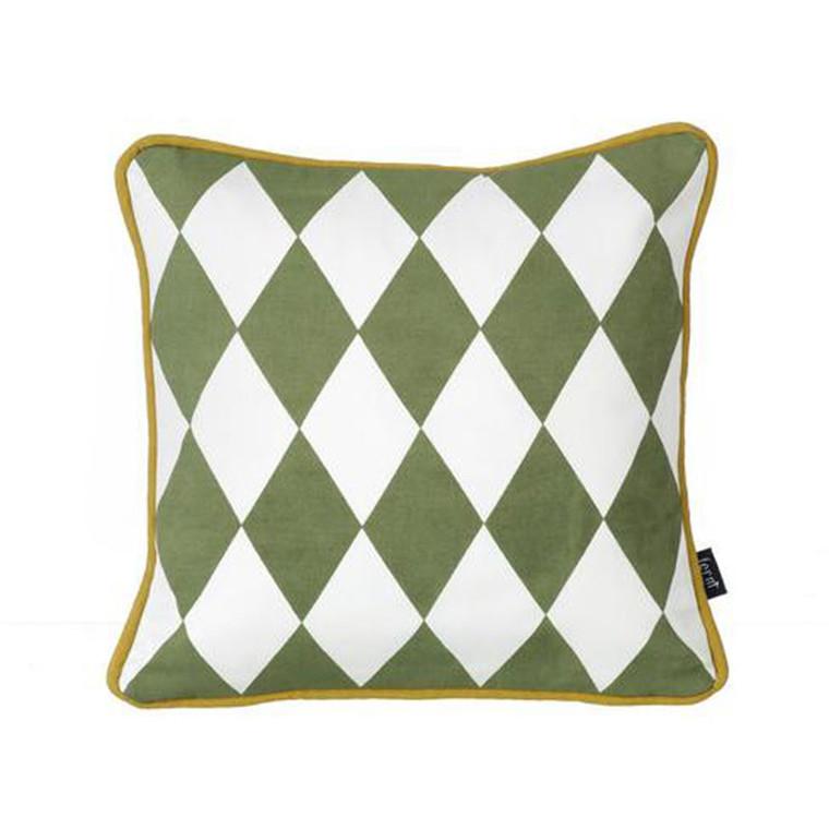 Ferm Living Geometry Cushion Olive/Black
