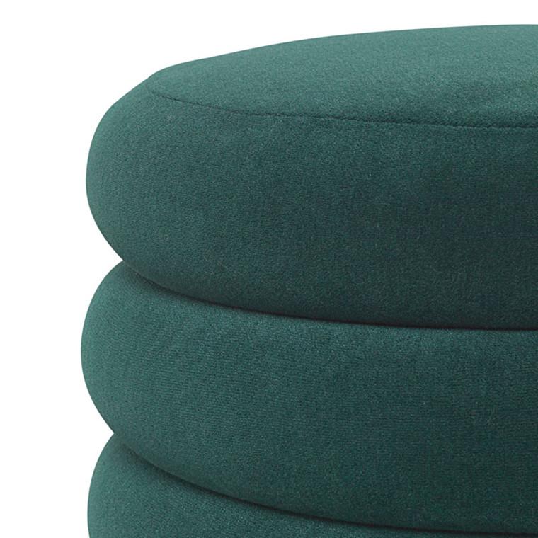 Ferm Living Pouf Round Dark Green Large