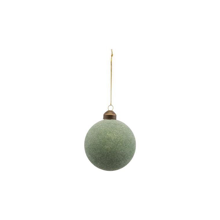 House Doctor Glittery Ornament Green Ø 8 cm