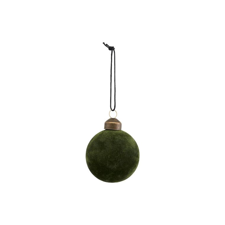 House Doctor Flock Ornament Dark Green Ø 8 cm