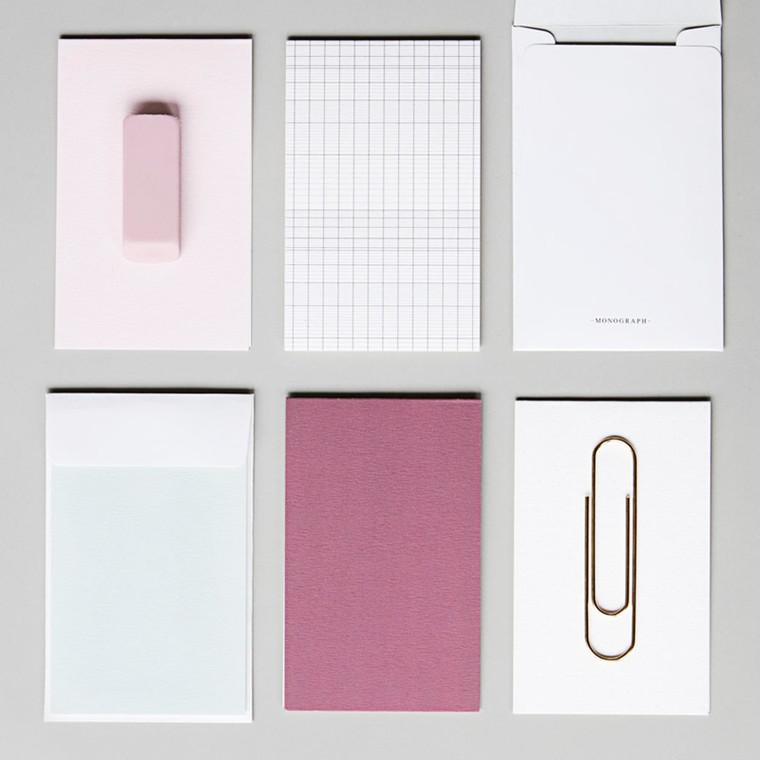 House Doctor Monograph Solid Noteskort