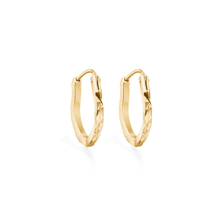 Enamel Copenhagen Amour Hoops Gold-Plated