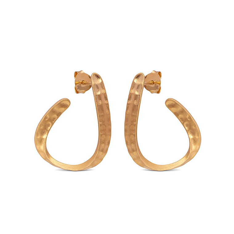 Enamel Copenhagen Awa Earrings Gold-Plated