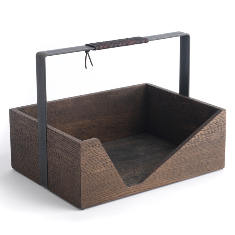 The Oak Men Carrie Box Black Oiled Oak