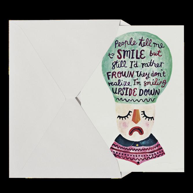 Michelle Carlslund Upside Down Postkort