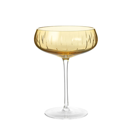 Louise Roe Crystal Champagne Coupe Amber