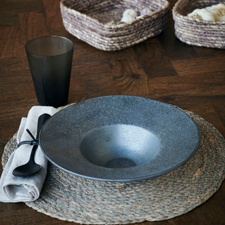 House Doctor Pion Pasta Plate Black/Brown