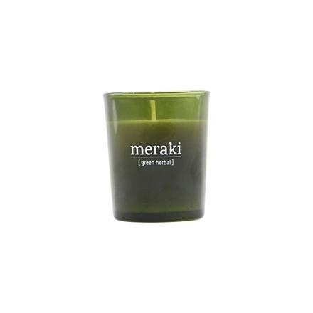 Meraki Scented Candle Green Herbal Small