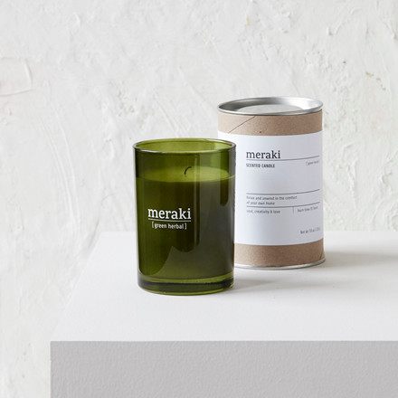 Meraki Scented Candle Green Herbal