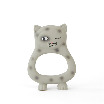 OYOY Benny Cat Baby Teether Grey