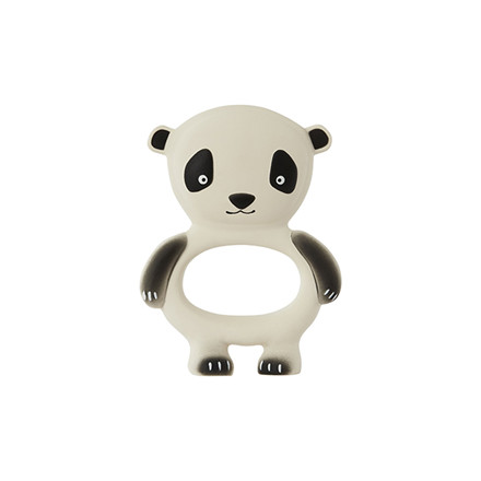 OYOY Panda Baby Teether Offwhite/Black