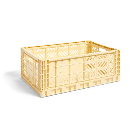 HAY Colour Crate L Light Yellow