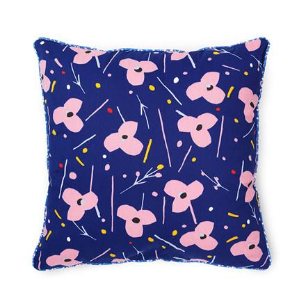 Normann Cph Posh Cushion La Grand Fleur Ink Blue