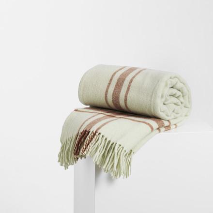 Normann Cph Papa Throw Blanket Frame Pistachio/Camel