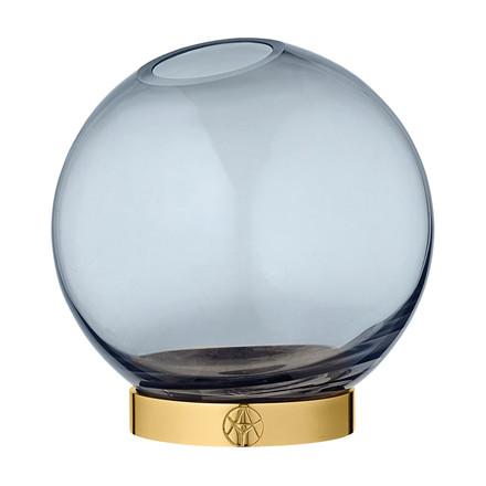 AYTM Globe Vase Navy/Gold Ø 10 cm