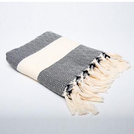 Algan Elmas Badehåndklæde Sort