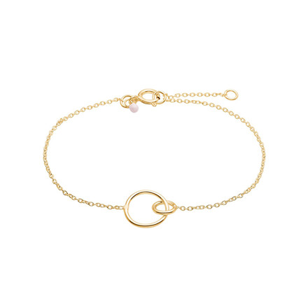 Enamel Copenhagen Double Circle Bracelet Gold-Plated