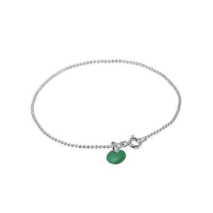 Enamel Copenhagen Ball Chain Bracelet Petrol Green Silver