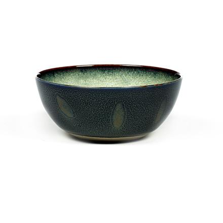 Serax Bowl Medium Misty Grey/Dark Blue