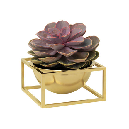 By Lassen Kubus Bowl Centerpiece Small Messing
