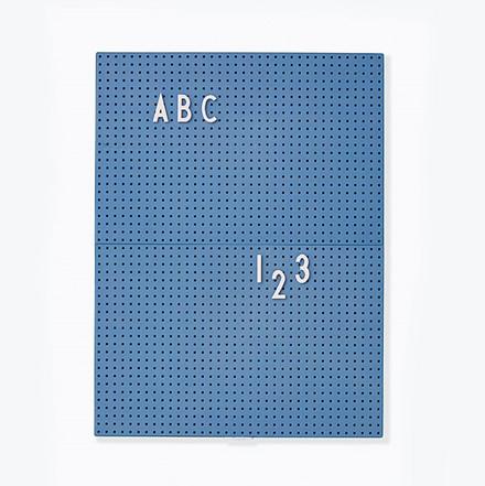 Design Letters Message Board A4 Blå