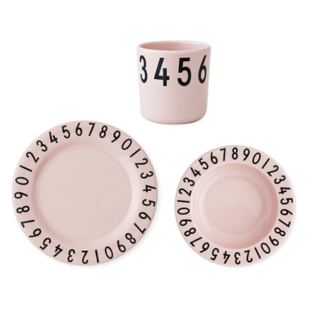 Design Letters The Numbers Gift Set Pink