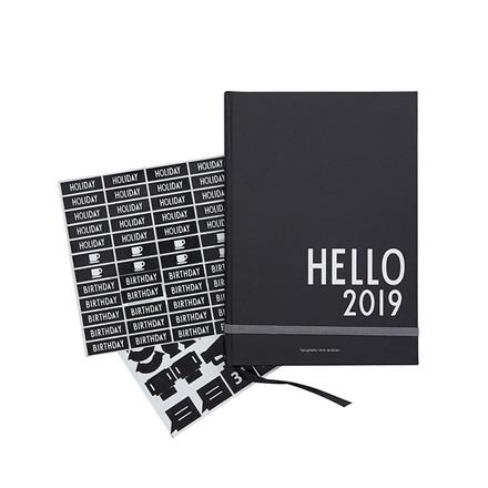 Design Letters Calender 2019 Black