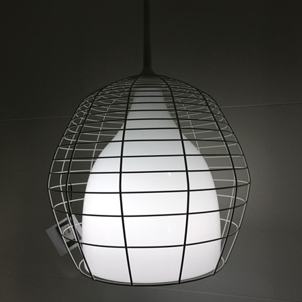 Foscarini Diesel Cage Grande Pendel Hvid Udstillingsmodel