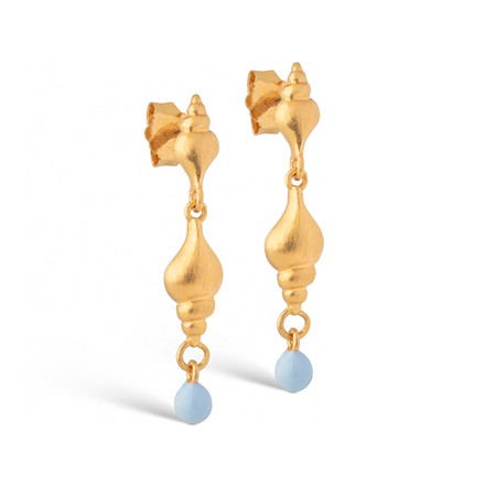 Enamel Copenhagen Tulip Shell Earrings Gold-Plated