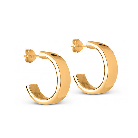 Enamel Copenhagen Thora Hoops Gold-Plated
