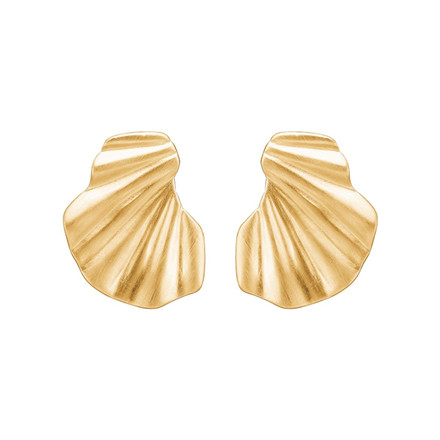 Enamel Copenhagen Wave Earrings Gold-Plated