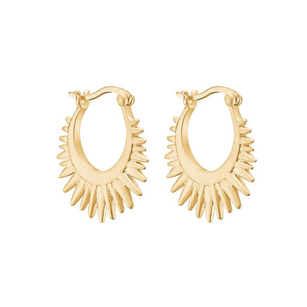 Enamel Copenhagen Sunrays Earrings Gold-Plated