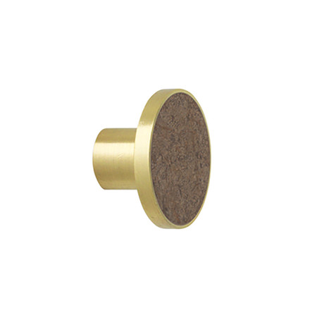 Ferm Living Stone Hook Brown Marble Large