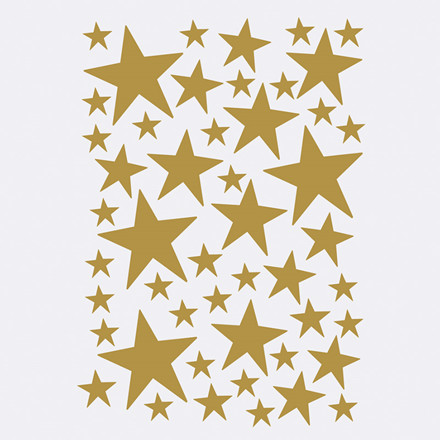 Ferm Living Mini Stars Wallsticker Brass