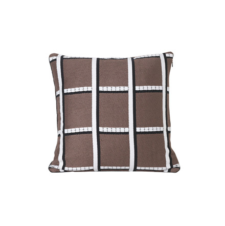 Ferm Living Salon Cushion Checked Taupe