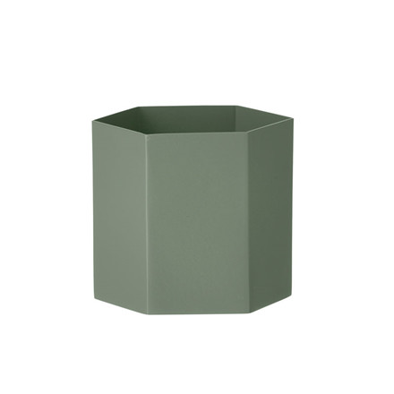 Ferm Living Hexagon Pot Dusty Green Large