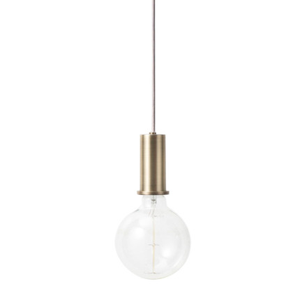 Ferm Living Socket Pendant Low Brass