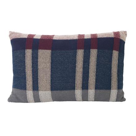 Ferm Living Medley Knit Pude Mørkeblå Large