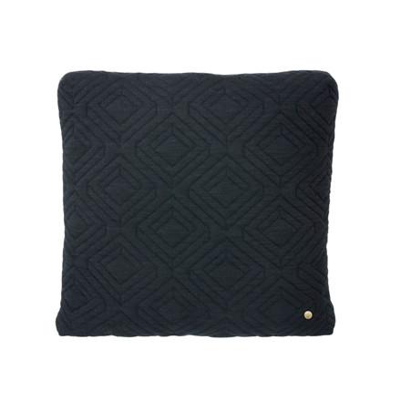 Ferm Living Quilt Cushion Dark Grey 45 x 45