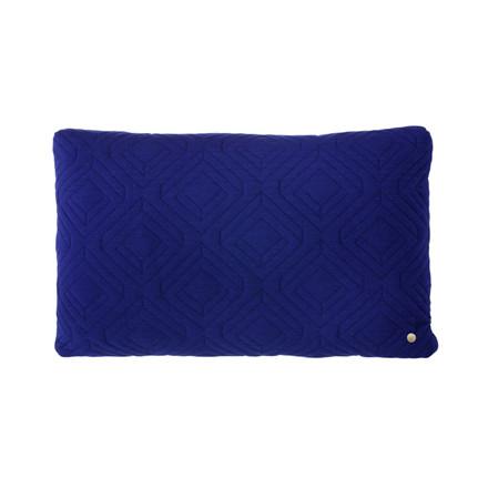 Ferm Living Quilt Cushion Dark Blue 60 x 40