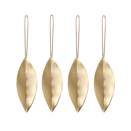 Ferm Living Leaf Brass Ornaments